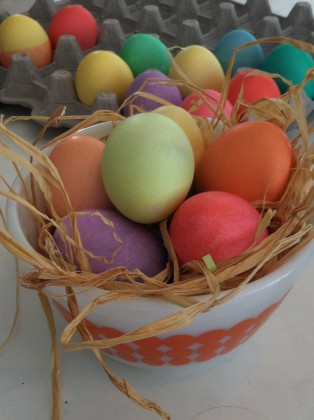 1 Plain Dyed Eggs