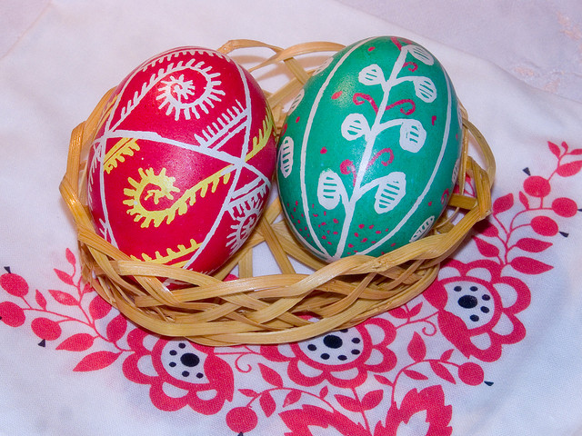 2 Ukrainian Dyed Eggs