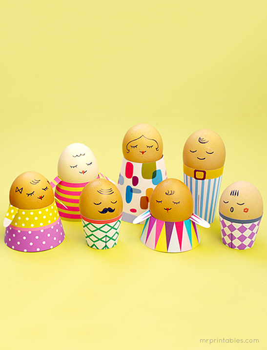 4 Funky Easter Egg People