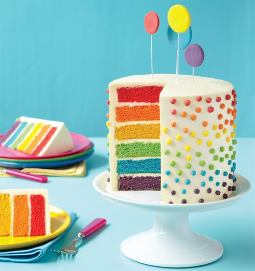 3 Rainbow Layer Cake