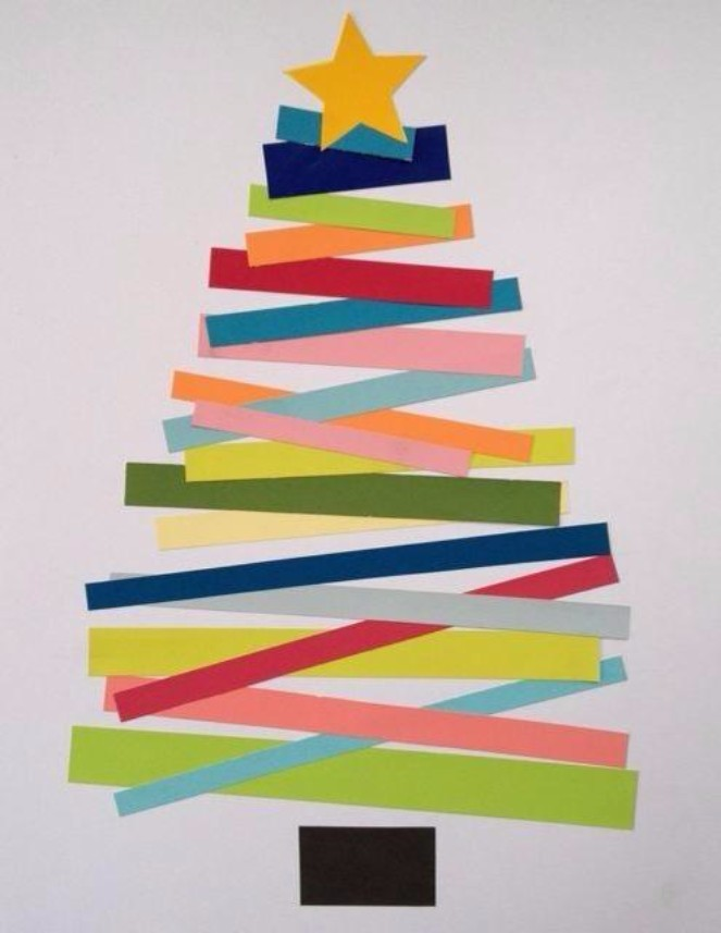 The top 15 christmas card ideas kids can make 4 paperstrip trees m4hsunfo